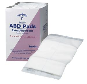 Covidien Curity Tendersorb Abdominal Pads With Wet Proof Barrier
